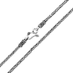 Bling Jewelry Mens Unisex Bali Style Chain Necklace Sterling Silver 20in…