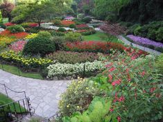 Butchart Gardens in Victoria BC.  Outstandingly beautiful.  Will be there in one month!