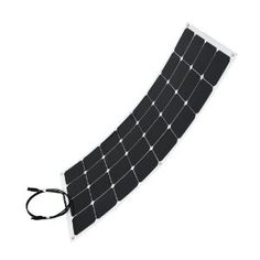 'flexible' solar panel (rigid cells mounted on a flexible plastic sheet), but should be resistant to small bumps, flexes, and other things that might damage a rigid panel.
