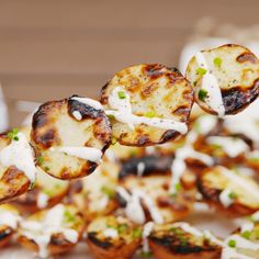 Ranch Potatoes Now we want to grill all our potatoes! Add a drizzle of ranch dressing and you'll never look back. Get the recipe at .Now we want to grill all our potatoes! Add a drizzle of ranch dressing and you'll never look back. Get the recipe at . Potato Dishes, Food Dishes, Cooking Dishes, Batata Potato, Ranch Potatoes, Potatoes On The Grill, Bbq Potatoes, Cooking Recipes, Healthy Recipes