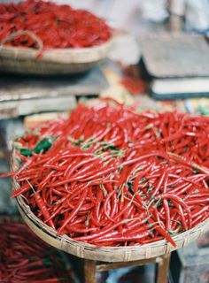Peppers | Baskets | Photo by Jen Huang (jenhuangblog.com)