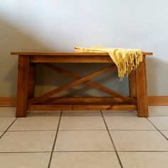 Rustic entryway bench Rustic wood benches Entryway by LilBitRustic