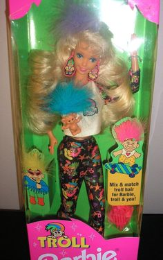 TROLL BARBIE NRFB MATTEL AGES 3+ WITH COOL TROLL TO WEAR & SHARE #DollswithClothingAccessories