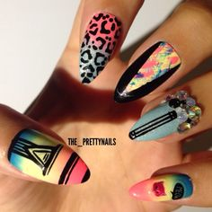 Mix & match set by The Pretty Nails pink yellow blue black