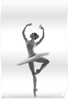'Ballerina' Poster by Alexander Yakovlev TheMirages Ballerina Poses, Ballerina Drawing, Ballet Dance Photography, Ballerina Tattoo, Ballet Art, Ballet Dancers, Ballet Images, Look Girl, Photography Challenge