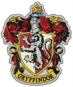 Gryffindor emblem machine embroidery design. Machine embroidery design. www.embroideres.com