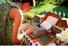 Typewriter guest book