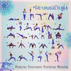 #mermaidyogis -  instagram Hosts: @ stoked.yogi @ zengirlmandy @ seavibesyoga @ rivkayoga
