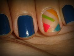 Nails blues art