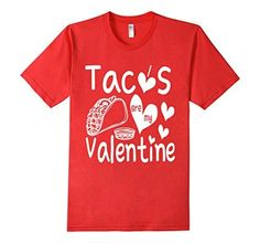 Men's Tacos Are My Valentine T-Shirt 2XL Red I&M Designs