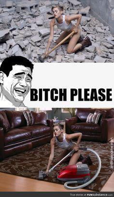 Miley Cyrus - wrecking ball b*tch please        lmao cx