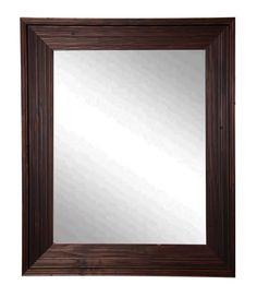 "Rayne Mirrors Rustic Brown Wall Mirror 26.75""""x 32.75"""""