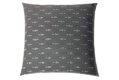 Riley 20x20 Cotton Pillow, Gray | Colors That Complement | One Kings Lane