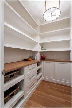 139 mind blowing kitchen pantry design ideas for your inspiration 27 Kitchen Pantry Design, Interior Design Kitchen, New Kitchen, Kitchen With Pantry, Kitchen Pantry Storage, Pantry Cabinets, Kitchen Counters, Kitchen Reno, Countertop