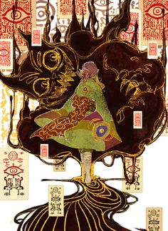 Mononoke ✿ Kusuriuri #Anime #Manga Myths & Monsters, Anime Monsters, Mononoke Anime, Wolf Children, Desert Art, Japan Art, Beautiful Drawings, Art Background, Bird Art