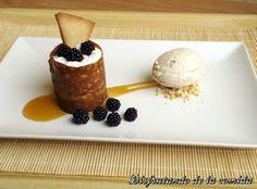 Mousse de Yogur y Helado de Té de Piña e Hibisco | Postres con estilo
