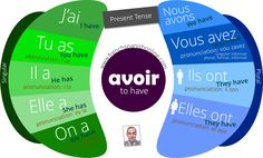 Verb to have (avoir) in French present tense. How to pronounce exactly and correctly the verb to have with contractions and abbreviations. Also to