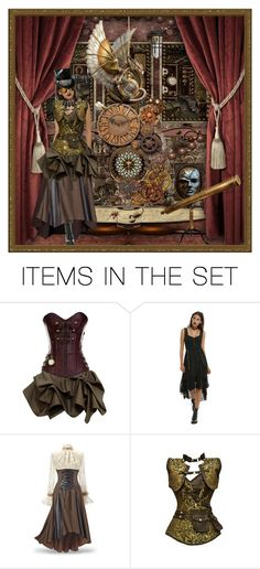 """""""Steampunk"""" by mollygrant ❤ liked on Polyvore featuring art"""