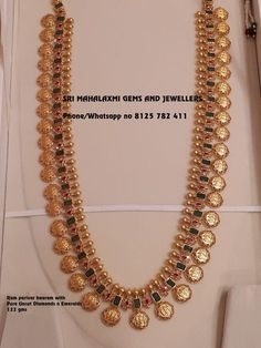 3 Brands That Sells Best Gold Long Necklace Designs! Gold Temple Jewellery, Gold Jewellery Design, Antique Jewellery, Gold Chain Design, Handmade Jewellery, Gold Earrings Designs, Necklace Designs, Gold Haram Designs, Necklace Ideas