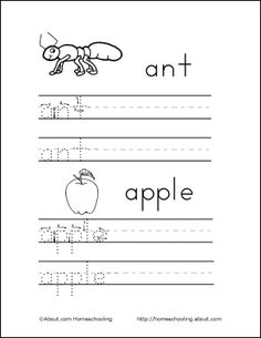 Tracing Letter Worksheets For Teaching Letters And Sounds  Free