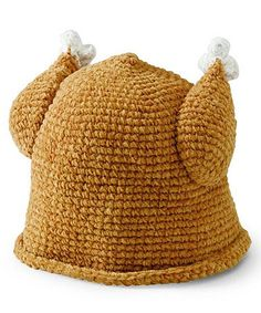 Brown Knit Turkey Beanie *Baby's first Thanksgiving, too cute