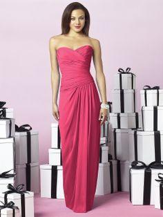 Strapless After Six bridesmaids dress  MODELBRIDE - After Six Bridesmaids Style 6641, $210.80 (http://www.modelbride.com/after-six-bridesmaids-style-6641/) #pinkbridesmaiddress
