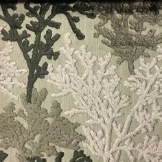 Reef - Coral Pattern Cut Velvet Home Decor Upholstery & Drapery Fabric by the Yard - Available in 8 Colors