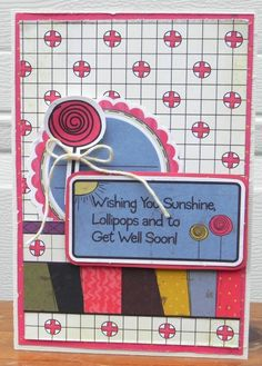 """Created by Marielle LeBlanc using the """"Get Well Soon"""" collection from Nikki Sivils, Scrapbooker"""