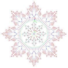 Gwiazdkowy kalendarz adwentowy...12a schemat śnieżynki...