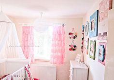 Baby Girl Nursery Inspiration ❤️ the curtains Polka Dot Curtains, Ruffle Curtains, Cute Curtains, Polka Dot Walls, Polka Dots, Girls Bedroom Curtains, Baby Bedroom, Bedrooms, Baby Rooms