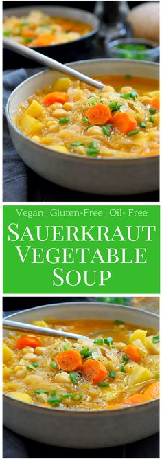 This recipe for sauerkraut soup is hearty, delicious and simple to make. All cooked in one pot and ready in just 30 minutes, this simple and warming soup is great served as a vegetarian or vegan main or side.