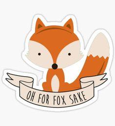 fox sake Sticker