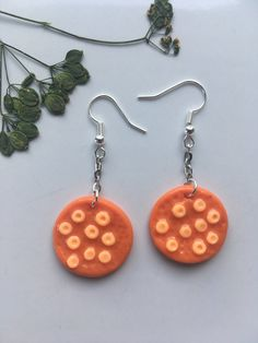 Polymer clay earrings inspired by nature / Statement jewelry / Unique gift / Botanical Design by ByDashka on Etsy