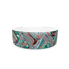 Kess InHouse Suzanne Carter Abstract Wave Pet Bowl Teal Abstract -- For more information, visit image link. (This is an affiliate link) Elevated Dog Bowls, Raised Dog Bowls, Puppy Starter Kit, Dog Water Bowls, Cat Id Tags, Cat Training Pads, Abstract Waves, Cat Shedding, Cat Fleas