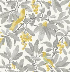 Buy Grey / Yellow, Cole & Son Royal Garden Wallpaper from our Wallpaper range at John Lewis & Partners. Free Delivery on orders over Blush Wallpaper, Classic Wallpaper, Silver Wallpaper, How To Hang Wallpaper, Botanical Wallpaper, Wallpaper Panels, Wallpaper Roll, Hallway Wallpaper, Kitchen Wallpaper