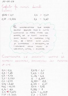 Didattica Scuola Primaria: Confronto fra numeri decimali Problem Solving, Bullet Journal, Education, School, Mary, Onderwijs, Learning