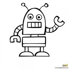 Robot coloring pages: Beep Beep! Hipe u like this one - from the blog #coloringpages #robots #kids