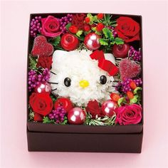 Hello Kitty boxed flowers