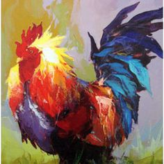 Rooster Abstract Painter | Title: Hot Shot I Rooster Charles Original Abstract Rooster Painting, Hot Shots, Roosters, Custom Framing, The Originals, Abstract, Spring, Frame, Inspiration
