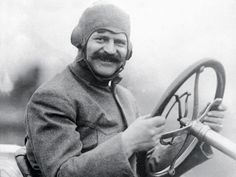 Louis Chevrolet behind a Chevrolet steering wheel ;-)