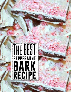 The BEST peppermint bark EVER