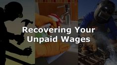 Do-It-Yourself Guide – Recovery of Unpaid Wages