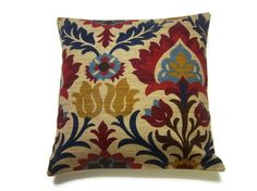 Two Crimson Red Gold Navy Blue Light Blue by LynnesThisandThat, $35.00