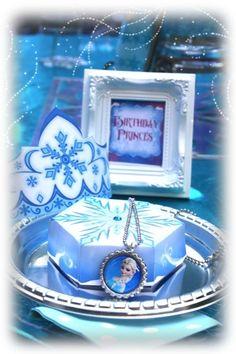 Frozen Snow Princess Birthday Party favors!  See more party ideas at CatchMyParty.com!