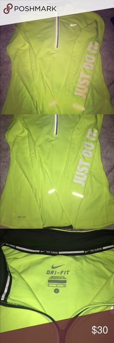 Neon Nike Zip Up Selling Neon Nike Zip Up size S. Super good condition really good quality aswell, wore it only once, always sat in my closet Nike Tops Sweatshirts & Hoodies