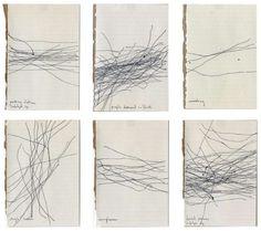 Milena Bonilla, Noises Drawings, inks on paper, 9 x 14 cm each) Mises En Page Design Graphique, Art Graphique, Abstract Drawings, Art Drawings, Abstract Art, Free Park, Mark Making, Art Plastique, Painting & Drawing