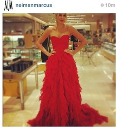 Beautiful red gown, perfect for a military ball.