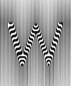 W / black + white lines