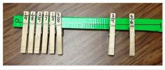NUMBER LINE FRACTION & DECIMALS! Great way to use clothespins and rulers for an easy assessment of number lines, decimal and fraction comparing.
