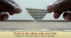 Picture of Push in the Other Side and Fold Geek Cross Stitch, Cross Stitch Bookmarks, Cross Stitch Borders, Origami Ball, Easy Origami, Origami Paper, Origami Boxes, Origami Instructions, Origami Tutorial